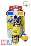 Camon Игрушка HI-VIZ цилиндр + мяч на канате, 19 см.