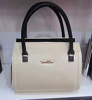 Черно-белая женская сумочка