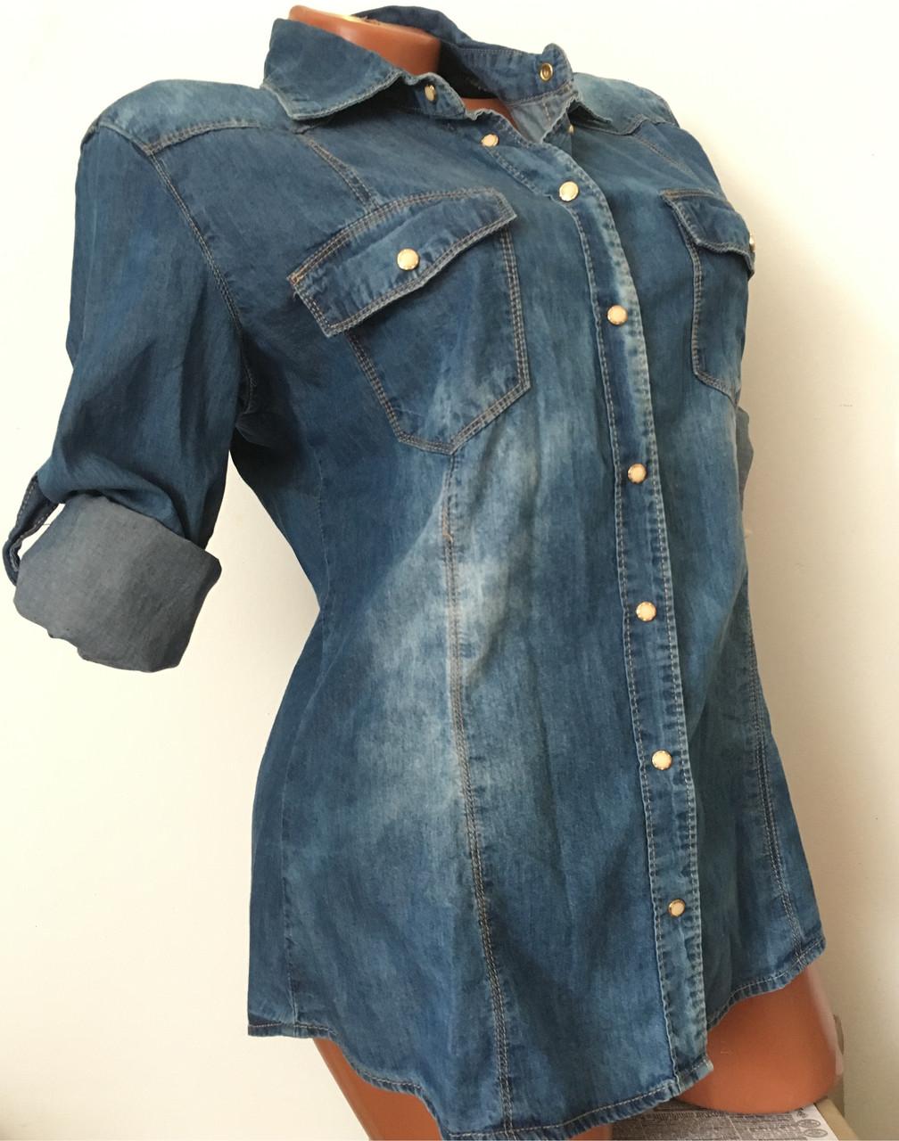 Женская джинсовая рубашка оптом Re-Dress - Оптовый интернет-магазин