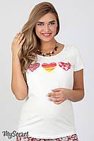 Комфортная футболка для беременных Lillit hearts