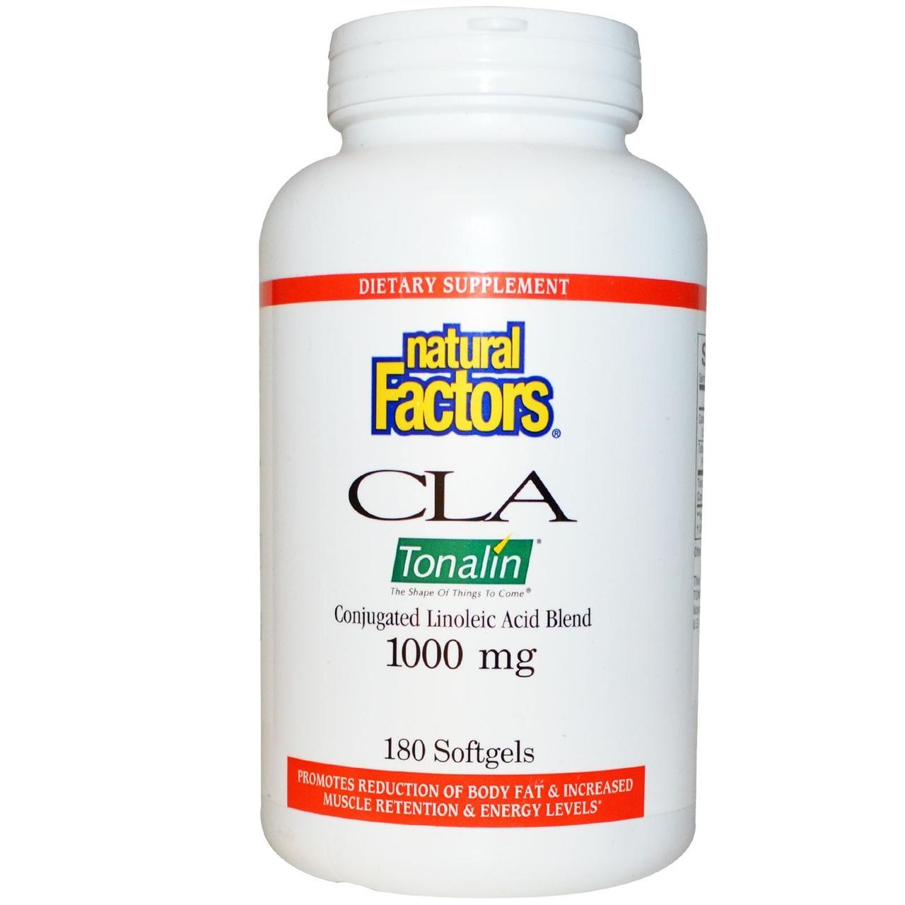 Natural Factors, CLA, смесь с конъюгированной линолевой кислотой, 1000 мг, 180 мягких капсул - Интернет-магазин для здоровой жизни в Киеве
