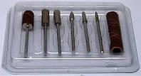 Набор насадок для фрезера 6шт в блистере YRE YDM-07, фрезерные насадки