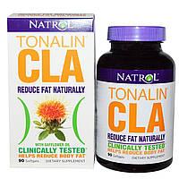 Natrol, Tonalin с содержанием сопряженной линолевой кислоты (CLA) с сафлоровым маслом, 90 капсул