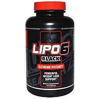 Nutrex Research Labs, Lipo6 Black, экстремальная эффективность, потеря веса, 120 капсул