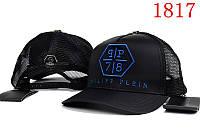 Кепка мужская Philipp Plein. Кепка женская. Бейсболка  | Филипп Плейн черная з синим