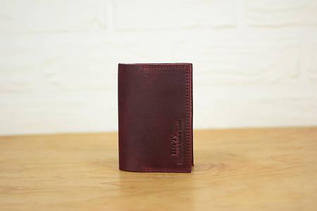 Обложка на паспорт из натуральной кожи |10508| Фиолетовый