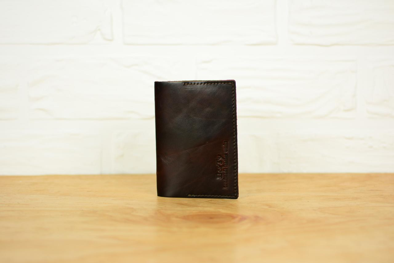 Обложка на паспорт из натуральной кожи |10509| Италия | Вишня