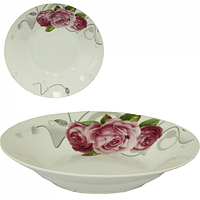Тарелка суповая 60 см Розы SNT 30003-1487