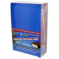 Coconut Secret, Органические кокосовые батончики с миндалем, 12 батончиков, 1,75 унции (50 г) каждый