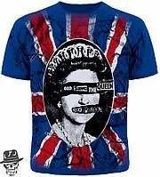 "Футболка Sex Pistols ""God Save The Queen"" (blue t-shirt)"