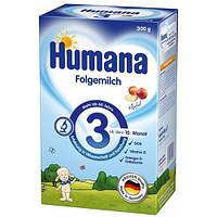 """Сухая детская молочная смесь для дальнейшего кормления """"HUMANA 3 с пребиотиками"""" (ГОС) 300 г."""