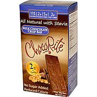 HealthSmart Foods, Inc., ChocoRite, хрустящие батончики с молочным шоколадом, 5 батончиков, (28 г) каждый