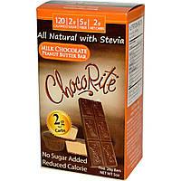 HealthSmart Foods, Inc., ChocoRite, батончик с молочным шоколадом и арахисовым маслом, 5 батончиков (28 г) шт.