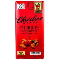Chocolove, Вишня и миндаль в черном шоколаде, 3.2 унции (90 г)