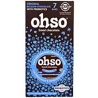 Solgar, Ohso, бельгийский пробиотический шоколад для ежедневного употребления, оригинальный, 7 плиток по 0,5 унции (14 г)