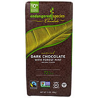 Endangered Species Chocolate, Dark Chocolate with Deep Forest Mint, 3 oz (85 g)