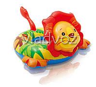 Детский надувной плавательный круг для плавания игрушка лев Intex 58221