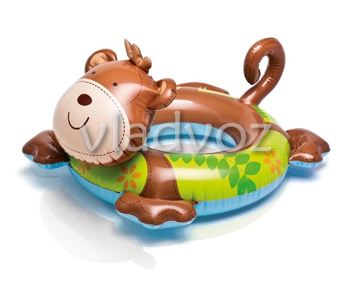 Надувной круг игрушка обезьяна Intex 58221 66х56см