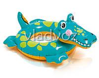 Детский надувной плавательный круг для плавания игрушка крокодил Intex 58221