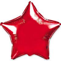 """Фольгированный шар без рисунка 32"""" звезда красная"""