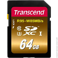 Карта Памяти Transcend SDXC 64GB Class 10 UHS-I U3 Ultimate (TS64GSDU3X)