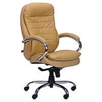 Кресло руководителя Валенсия HB кожа беж (CS-618E LEATHER BEIGE)