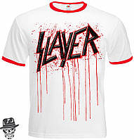 Футболка-рингер Slayer (blood logo)