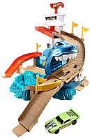 Трек Hot Wheels Охота на акулу полювання на акулу акула из серии измени цвет Color Shifters Sharkport Showdown Trackset
