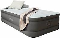 Велюр кровать усиленной конструкции 64472 со встроенным электронасосом 220В (191х99х46см) в сумке и коробке