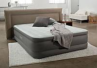 Велюр кровать усиленной конструкции 64474 со встроенным электронасосом 220В (203х152х46см) в сумке и коробке