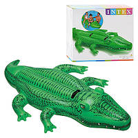 Плотик 58542 крокодил c ручками (203 х 114 см) в коробке (25,5 х 23 х 8 см) ZN