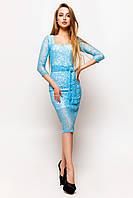 Платье голубое Олси