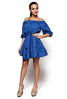 Платье с открытыми плечами Диана