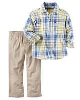 Комплект-двойка Carters брюки и рубашка (беж) 12М,18М,24М