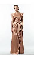 Вечернее  длинное атласное платье