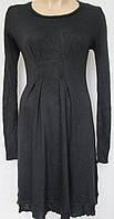 Платья черное трикотажное с складками. Италия