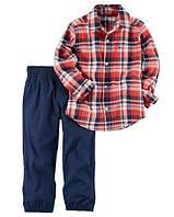Комплект-двойка Carters брюки и рубашка (кр-син) 18М