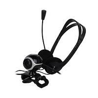 Веб-камера 0.3 Мп з мікрофоном та навушники Trust Chat & VoIP Pack Exis Black