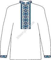Заготовка мужской вышиванки бисером на льне ЧСВЛ-1