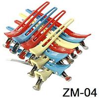 Зажим комбинированый цветной для волос 12 шт ZM-04 YRE