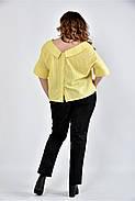 Женская блуза в клетку 0509 цвет желтый размер 42-74, фото 4