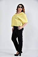 Женская блуза в клетку 0509 цвет желтый размер 42-74, фото 2