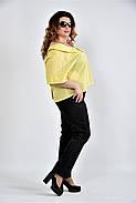 Женская блуза в клетку 0509 цвет желтый размер 42-74, фото 3