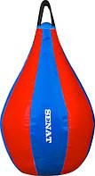 Боксерская груша 40 см х 22 см красно-синяя (ПВХ)