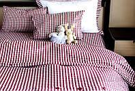 Постельное белье Sleeper Set Red Plaid поплин Полуторный комплект