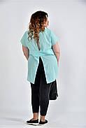 Женская просторая блуза 0506 цвет мята размер 42-74, фото 4