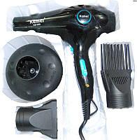 Фен для волос с насадками и диффузором Kemei 2400W KM-959 YRE