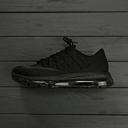 Мужские кроссовки Nike Air Max 2016 triple black. Живое фото. Топ качество! (Реплика ААА+)