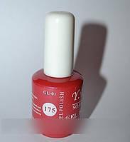 Гель-лак YRE №175, дизайн ногтей гель-лаком