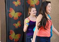 Сетка москитная Magic Mesh на дверь Меджик Меш с бабочками